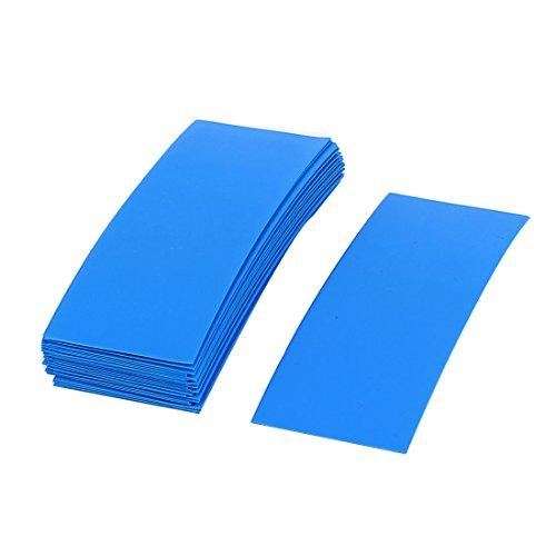 sourcingmap 30pcs 72mm x 18.5mm PVC Heat Shrink Tubing Blue for 1 x 18650 Battery