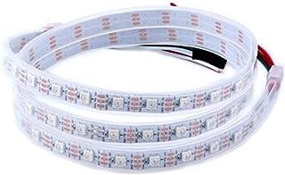 CHINLY 1m 60leds WS2812B Tira de LED direccionable individualmente 5050 RGB SMD 60 píxeles color de sueño impermeable IP67...