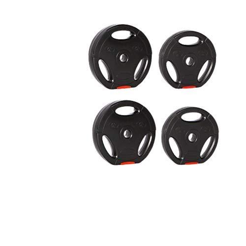 Zoomyo Peak Power Hantelscheiben, 4-TLG. Hantelset mit Standard 30-mm-Bohrung, passend auf herkömmliche Kurzhanteln und Langhantelstangen, mit DREI Eingriffen zum freien Trainieren (25)