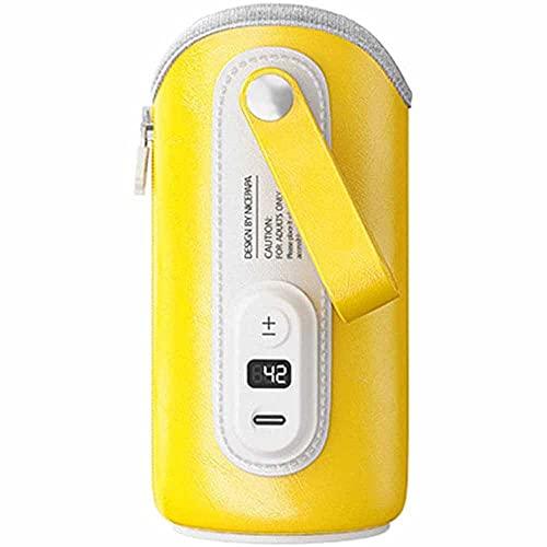 Calentador de biberones, Calentador de biberones Bolsa Calentador de biberones portátil con puerto de carga USB Bolsa de aislamiento térmico portátil para leche materna Coche de leche para bebés