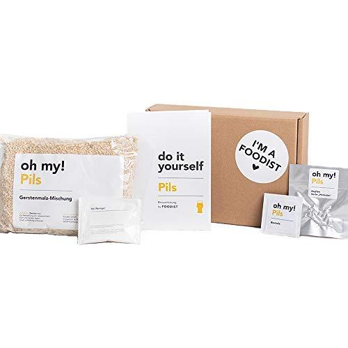 Foodist Pils Nachfüllpack für Brau-Set zum Selbermachen | Premium Geschenkidee für echte Männer und Frauen zum erneuten Selberbrauen mit Brau-Buch Anleitung | DIY Kit