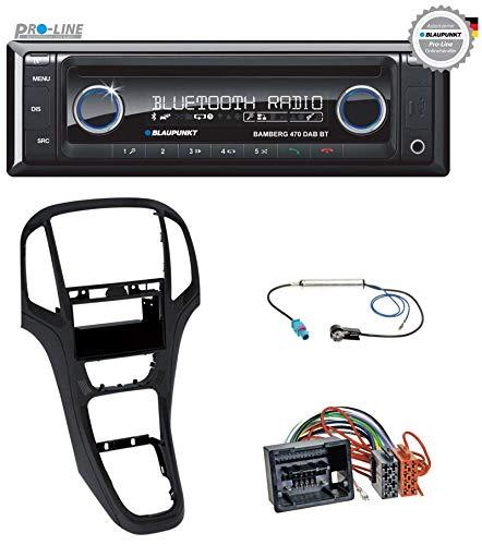 caraudio24 Blaupunkt Bamberg 470 DAB BT Bluetooth DAB CD MP3 USB Autoradio für Opel Astra J ab 2009 Perl schwarz