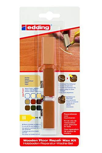 edding 4-8902-1-4608 Holzboden-Reparaturwachs-Set 8902 DIY, buche