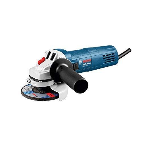 Bosch 0601394000 Professional haakse slijper GWS 115/0601394000 / 750 W/schijf Ø 115 mm schuurspindeldraad M14, zwart, blauw, wit