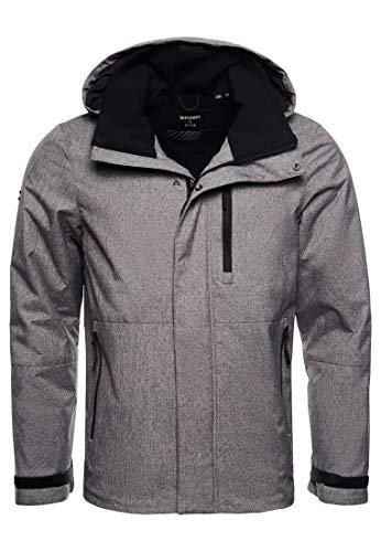 Superdry Mens Coat 'Hurricane Jacket' (Mid Grey Marl) L