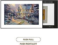 配電ボックスの交換油圧ロッドパンチ無料ヒューズモジュールのヒューズボックスでペイントメーターボックス装飾リビングルームベッドルームのプッシュプルハンギングブロッキングドア壁画を (Color : Push-pull, Size : 70*60cm)