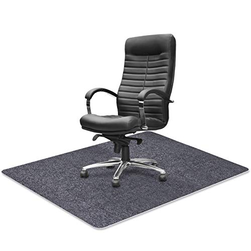 Office Chair Mat for Hard Floor, ACVCY Chair Mat Floor Protector Desk Mat Multi-Purpose for Home 0.16' Thick 47'x35' Freely Cuttable(Light Grey)