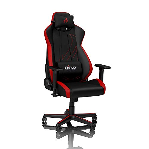 NITRO CONCEPTS S300 EX Gamingstuhl - Bürostuhl - Schreibtischstuhl - PU-Kunstleder - Inferno Red (Rot)