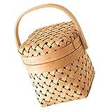 YARNOW Canasta Tejida Seagrass Mimbre Rattan Storage Basket Box Canasta de Picnic Canasta de Lavandería Seagrass Sembradora