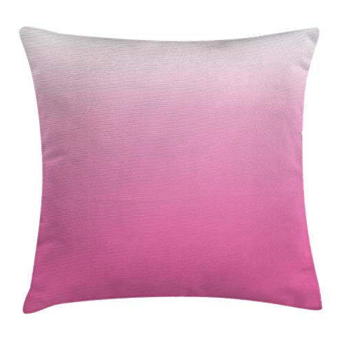 Ambesonne Ombre Throw Pillow Cushion Cover, Dreamy Love Dreamy Inspired Girly Colorful Modern Design Digital Modern Art Print, Decorative Square Accent Pillow Case, 18' X 18', Pink White