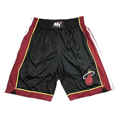 Jimmy Butler 22# Miami Heat Ballball Pantalones Cortos de Baloncesto, Pantalones Cortos de Entrenamiento Retro, Pantalones Cortos de Malla Bordados, Fibra de poliés Style B-L