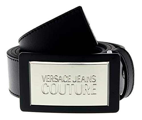 Versace Jeans Couture Herren Cintura Gürtel, Schwarz (NERO 899.0), 85