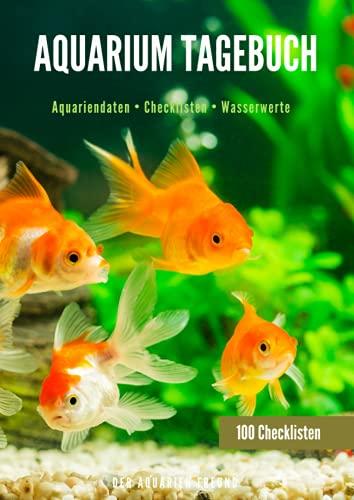 Aquarium Tagebuch: Logbuch Wasserwerte | Technik Check | Pflanzen Check | Aquarienpflege | Kontrolle der Technik und Wasserwerte | Aquarium Pflege ... | Größe ca. DIN A4 | 100x Checkliste