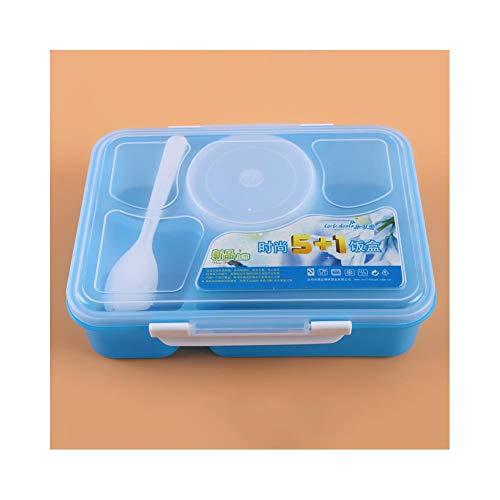 Foshuo Compartimento Lonchera Caja Bento Aislada,Queiting Lunch Box Contenedor De Almacenamiento De Alimentos Capa de Almuerzo de Material Saludable Almuerzo Thermos Cenas