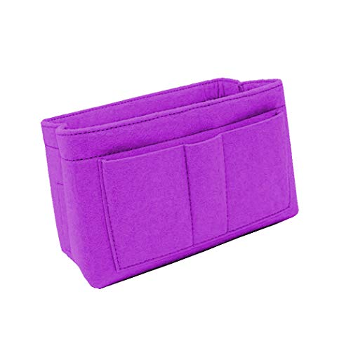 Purse Organizer Insert, Felt Bag Organizer Handbag & Tote Shaper for Speedy Neverfull Tote Purple Size: L
