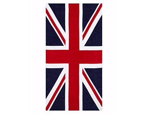 ffs Toalla de playa 100% algodón, diseño de bandera británica