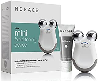 NuFACE mini Facial Toning Device Set | Wrinkle Reducer, Microcurrent Technology  |  FDA Cleared At Home System