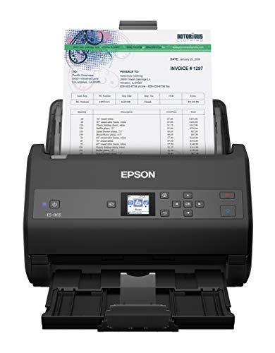 Epson Workforce ES-865 High Speed Color Duplex Document Scanner with Twain Driver
