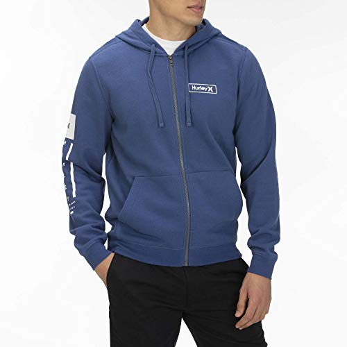 Hurley M Right Arm Full Zip Sweatshirts Homme, Mystic Navy, FR : L (Taille Fabricant : L)