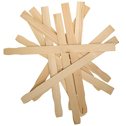 9 Inch Paint Sticks, Bag of 50 Hardwood Paint Stirrers, Mixing Paddles for Epoxy or Resin, Garden or Library Markers by Woodpeckers