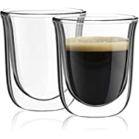2-Pack JoyJolt Javaah Double Walled Espresso Glasses