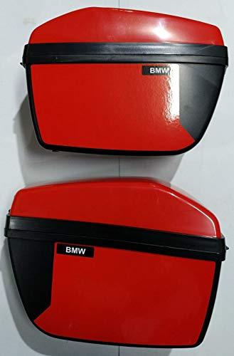 Indalchess Juego DE MALETINES Color Rojo para Moto ELECTRICA Infantil BMW DE POLICIA 12V R1200