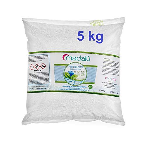 MAMICUP Percarbonato di Sodio Puro 5 kg, smacchiante, sbiancante, igienizzante
