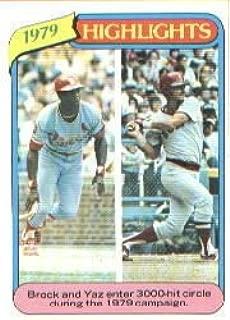 1980 Topps Baseball Card #1 Carl Yastrzemski