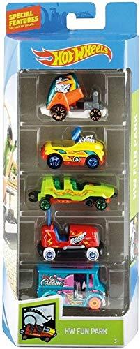 HOFF - Juego de 5 vehículos para Hot Wheels Fun Park – Coches minatures...