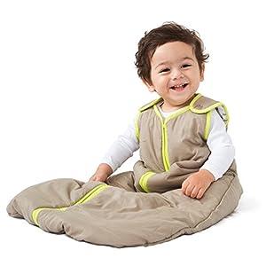 Bebé Deedee Sleep Nido bebé Saco de dormir Khaki/Lime Talla:6-18 m