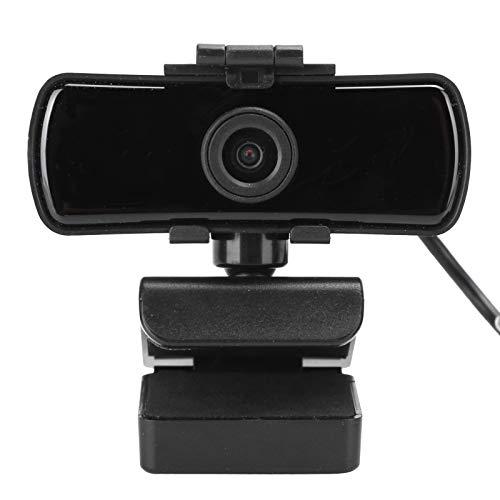 PUSOKEI Webcam Cámara Web HD 1080p, cámara Web Gran Angular 2K de 110 Grados con micrófono de reducción de Ruido Incorporado, Adecuada para grabación de Llamadas, conferencias, Juegos