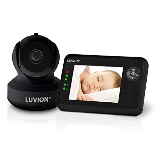 LUVION ESSENTIAL BLACK EDITION - Schwarzes Babyphone mit Kamera - 3.5 Zoll Farbdispay - Mehr flexibilität: Erweiterbar bis 4 Kameras - Schwarz