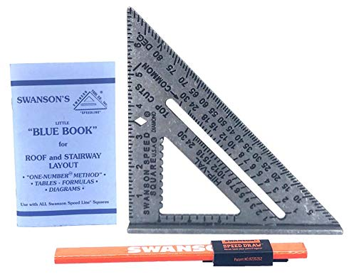 Swanson Tool Co S0101SDP217 7 inch Speed Square and Speed Draw Carpenter Pencil Holder Value Pack