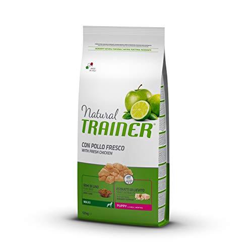 Natural Trainer - Cibo Secco per Cani Maxi Puppy, Con Pollo Fresco, 12kg