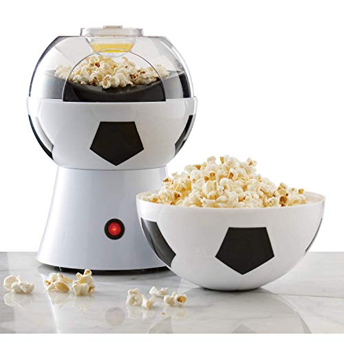 Sale!! PDXGZ Football Shape Popcorn Maker, 1200W Fast Popcorn Maker, Oil-Free & Low-Fat, Removable L...