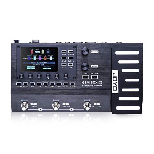 Asmuse Procesador de Efectos Guitarra y Modelador Amplificador JOYO GEM Box III, 157 efectos y 61 modulaciones de preamplificador, pedal multifuncional con efectos de cadena caja ritmos