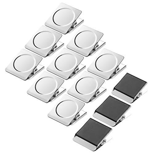 Andexi マグネットクリップ 冷蔵庫マグネット 12個セット ステンレス 磁石クリップ ホワイトボード オフィス用品 学校用品 フッククリップ 地図 掲示板に適用 くりっぷ