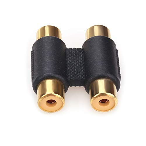 NANYI RCA Female to RCA Female Interconnect Coupler Adapter, with Gold Plated Housing for Mixer Amplifiers Cable Link (2rca F-F-1pack)