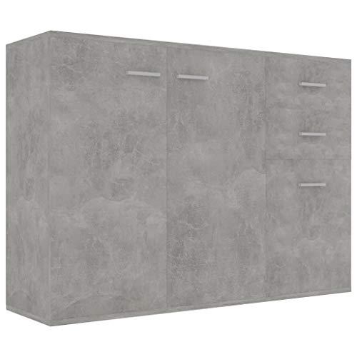 vidaXL Credenza Grigio Cemento 105x30x75 cm in Truciolato