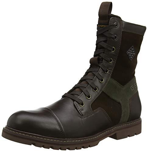 G-STAR RAW Herren Tendric Klassische Stiefel, Mehrfarbig (Dk Brown/Combat B710-A851), 45 EU