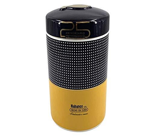 QINJLI keramische sigaar moisturizing slang, beweegbare sigarbox, gele voorraadtank voor meerdere sigaren, geschikt voor gebruik op straat