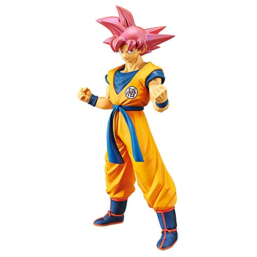 Banpresto Dragonball Super Movie Cyokoku Buyuden-Super Saiyan God Son Gokou Toy, Multicolor, (Model: BP39032_10221)
