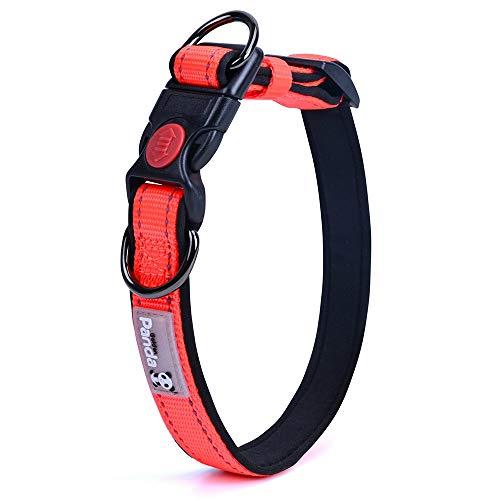 Lekesky Collar de perro pequeño ajustable reflectante de nailon para perros pequeños, 20-30 cm, color naranja