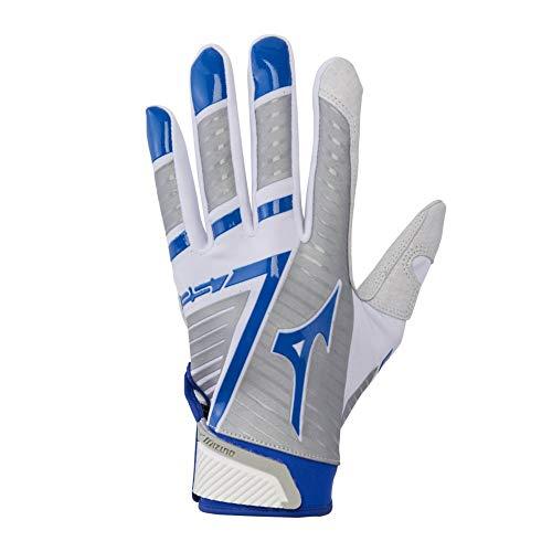 Mizuno Unisex's F-257 Women's Softball Batting Glove, White/Royal, M
