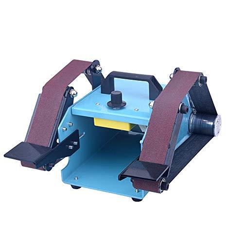 KKmoon Levigatrice a Nastro 950W Levigatrice 10-230V Multifunzione Levigatrice a Nastro a Doppio ASSE da Banco Desktop per Levigatrice Rettificatrice Decorazione Domestica con Nastro Abrasivo