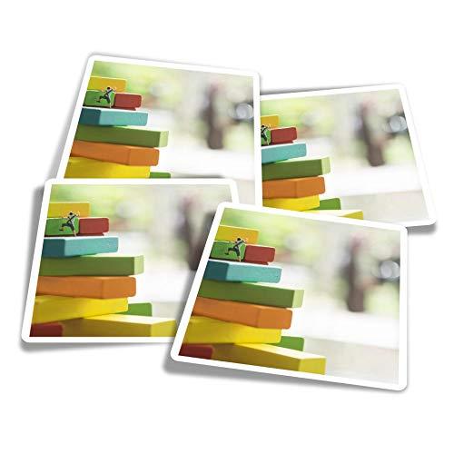 Pegatinas de vinilo (juego de 4) 10 cm – ny miniatura escaladores trepadores divertidos calcomanías para portátiles, tabletas, equipaje, reserva de chatarra, neveras #21885