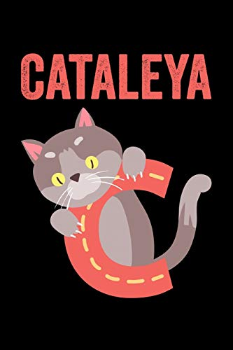 Cataleya: Animals Coloring Book for Kids, Weekly Planner, and Lined Journal Animal Coloring Pages. Personalized Custom Name Initial Alphabet Christmas or Birthday Gift for Girls