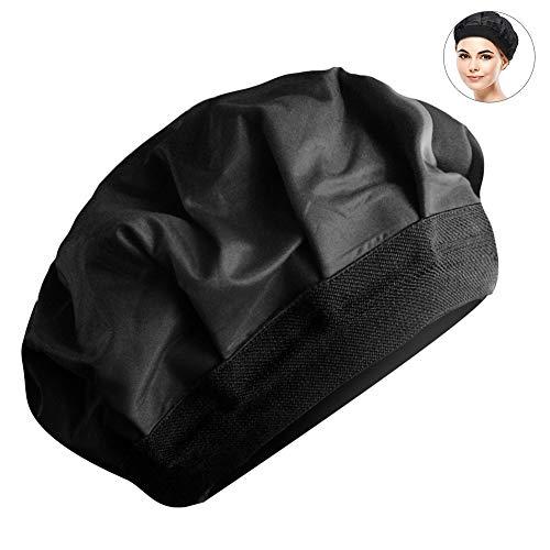 Bontand Cap Pelo 1PC Lujo De Calor Térmica Hat para Acondicionamiento Profundo E Hidratante Caliente Y Una Herramienta De Teñido Compresa Fría para Microondas De Pelo (Negro)