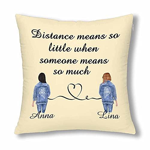 Fundas de almohada personalizadas para mejor amiga, regalo de amistad, regalo de...