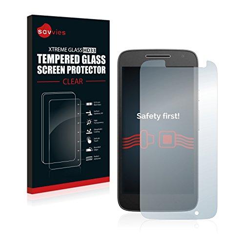 savvies Protector Cristal Templado Compatible con Lenovo/Motorola Moto G4 Play Protector Pantalla...